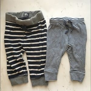 Gap & baby B'gosh drawstring jogger pants stripes